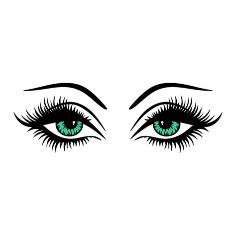 eps clipart eye lashes cuttable design