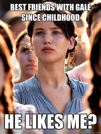 Childhood Friend Meme - oblivious katniss memes quickmeme