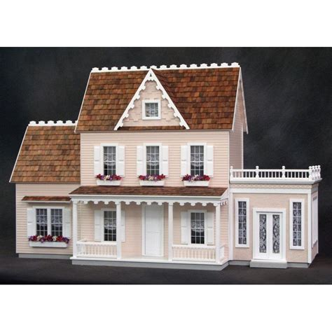 farmhouse kit vermont farmhouse jr dollhouse kit milled plywood dollhouses dollhouse kits superior