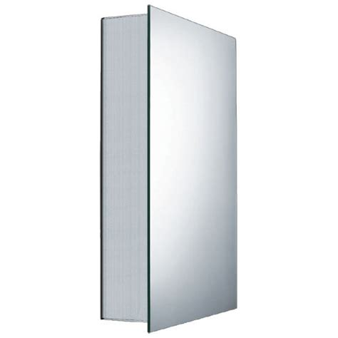 whitehaus single door medicine cabinet with faced