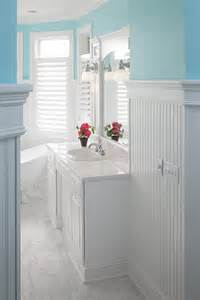 bathroom beadboard ideas how does the beadboard standup in the bathroom