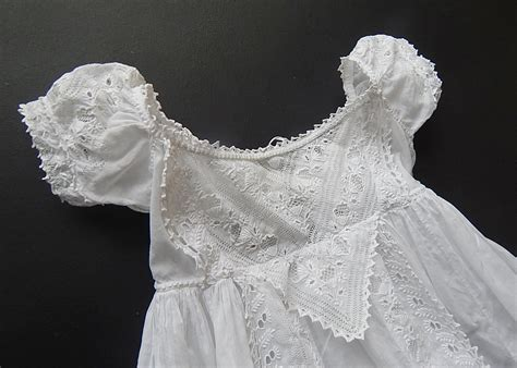 Handmade Christening Gowns - ayrshire christening gown antique handmade with exquisite