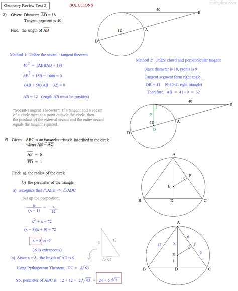 math plane geometry review 2