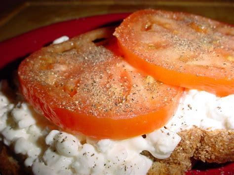 Cottage Cheese And Tomato by Cottage Cheese And Tomato On Toast Recipe Food