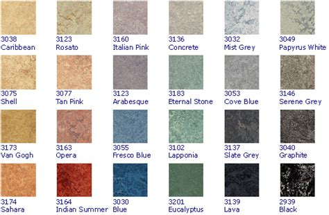 linoleum colors gallery