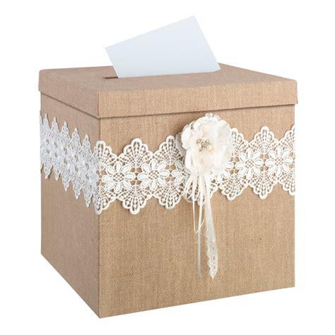 wedding card boxes to make rustic burlap wedding card box
