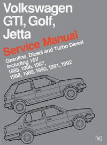 how to download repair manuals 1985 volkswagen jetta engine control volkswagen gti golf and jetta service manual 1985 1992
