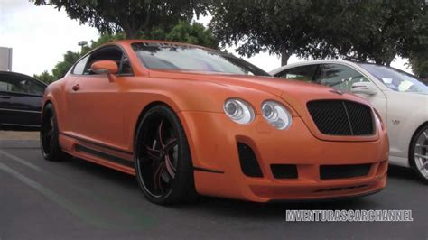 matte bentley matte orange bentley continental