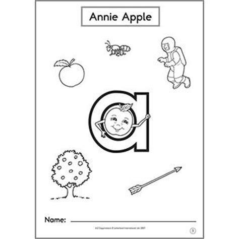 annie apple coloring page a z copymasters letterland uk