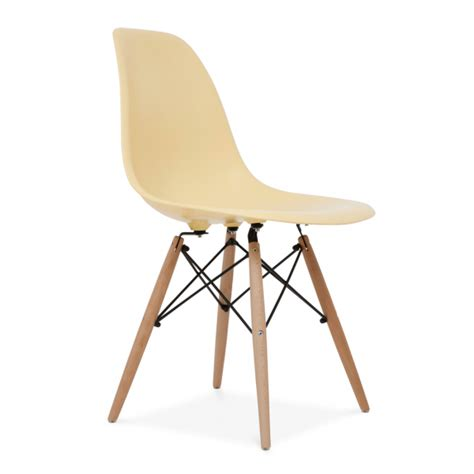 zinzan dsw side chair wooden leg cream zinzan classic design  affordable prices eames
