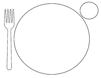 Dinner Plate Template By Shelley Brian Teachers Pay Teachers Health Phlet Template