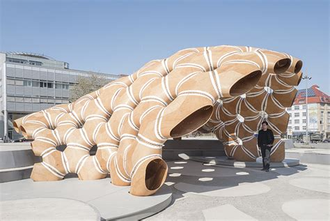 pavillon uni stuttgart robotic fabrication with sewing creates pavilion in