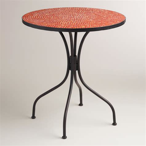 Indoor Bistro Table Modern Poinciana Orange Cadiz Bistro Table Contemporary Indoor Pub And Bistro Sets