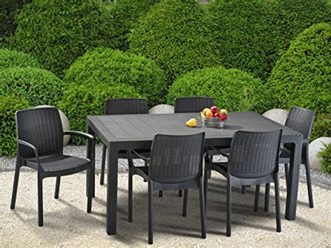 keter melody outdoor garden furniture rectangular patio