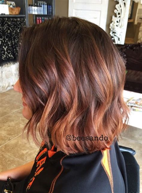 copper and brown sort hair styles balayage copper inverted bob google search highlights