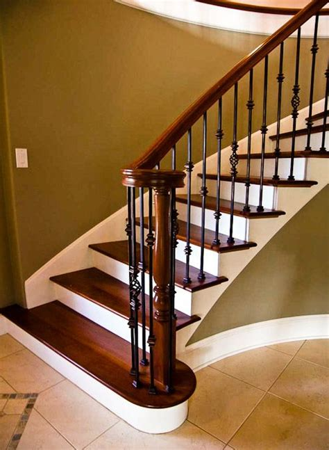 metal banister rail wrought iron stair spindles beautiful custom stairs