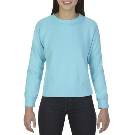 gildan comfort colors cc1596 comfort colors ladies crewneck sweatshirt lagoon