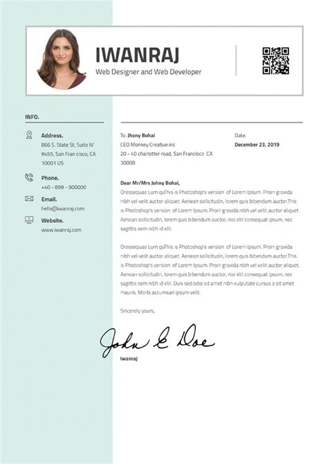 graphic designer cover letter downloadable cover letter