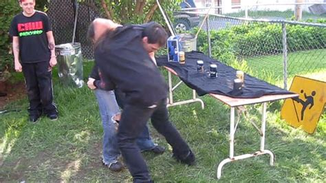 chw backyard bar room brawl match jd vs david storm chw backyard wrestling gogo papa