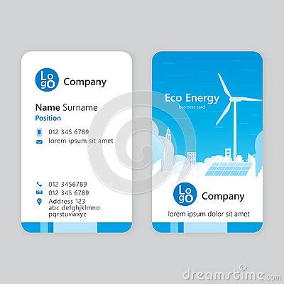 eco business card templates business card stock vector image 73359727
