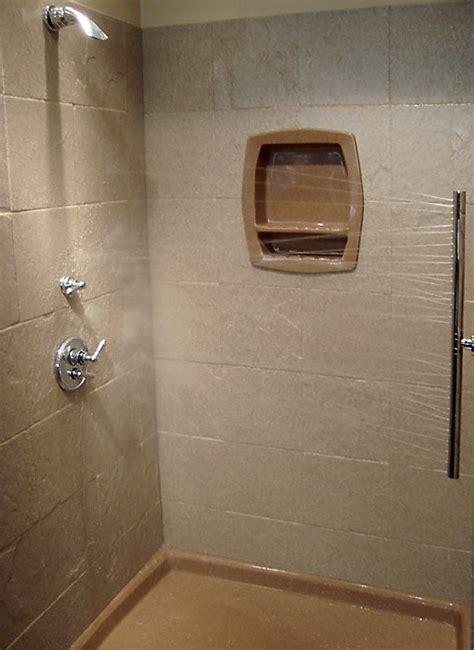 shower tile shelf insert