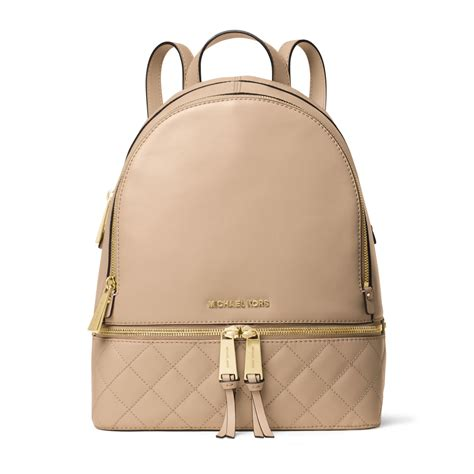 Michael Kors Rhea Backpack lyst michael kors rhea medium quilted leather backpack