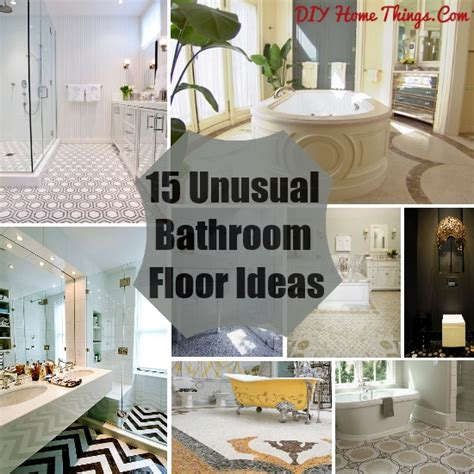 Unique Bathroom Flooring Ideas 15 Bathroom Floor Ideas Diy Home Things