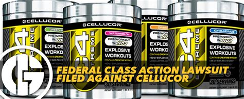 Lawsuit Filed Against In by Federal Class Lawsuit Filed Against Cellucor
