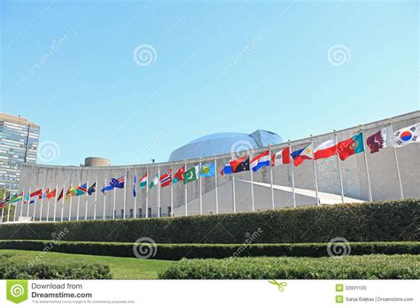flags of the world new york city un headquarters in new york stock photos image 32931103
