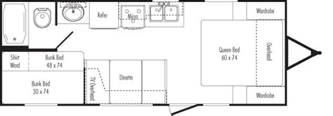 24 Foot Motorhome Floor Plans Alberts Rv Rental 22ft Trailer