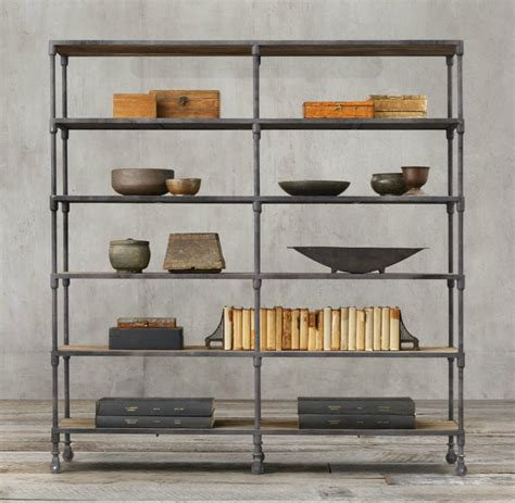 Industrial Design Finds From Furniture To Accessories Restoration Hardware Shelving