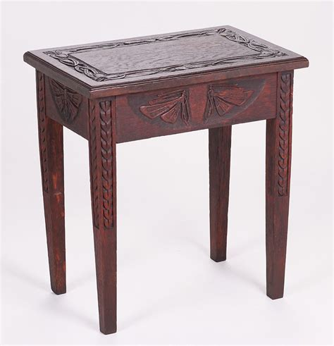 Roycroft Bookcase Arts Amp Crafts Hand Carved Celtic Butterfly Side Table