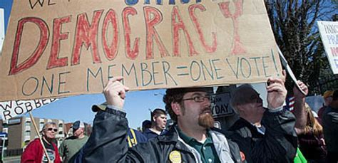shocking uaw members will have to pay for their own divorce uaw members protest 50 wage cut at gm plant demand a