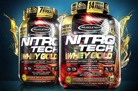 Nitrotech Whey Gold 6lbs nitro tech 100 whey gold nutricionyrendimiento