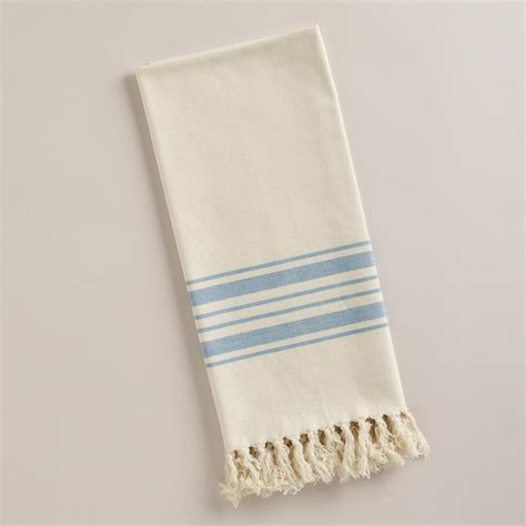 Blue Kitchen Towels Blue Villa Stripe Kitchen Tea Towel World Market