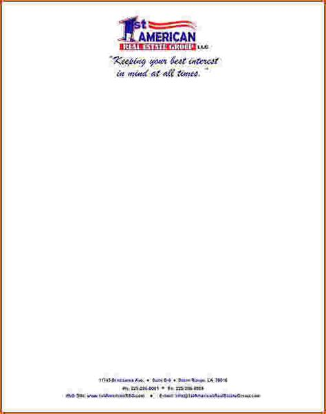 business letterhead setup 4 business letterhead exles teknoswitch