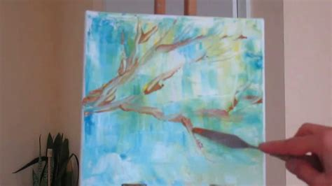 W Painting Technique by Tanja Bell How To Paint Tree Branches Bird Tutorial