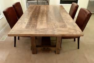 salvaged wood dining room tables dining room tables reclaimed wood bobreuterstlcom