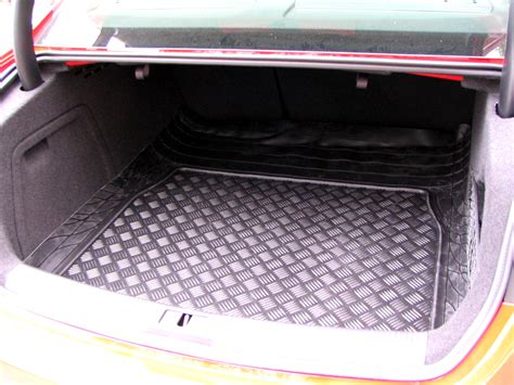 Rubber Mat With Lip by Audi A4 B8 Saloon Genuine Black Rubber Boot Lip Load Mat
