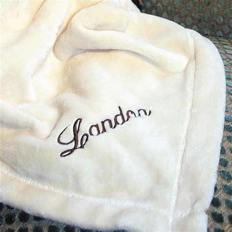 personalized ivory fleece throw blanket rosenberryrooms