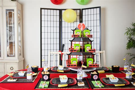 printable birthday table decorations a lego ninjago inspired birthday party anders ruff