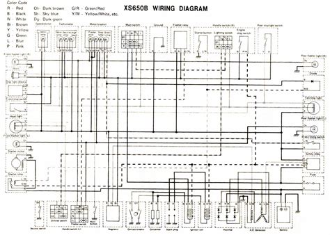 1977 yamaha xs 650 wiring diagram 1977 free engine image