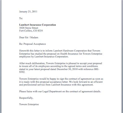 proposal acceptance letter smart letters