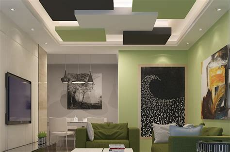 Living Room False Ceiling Gypsum Board Drywall False Ceiling Designs For Living Room India