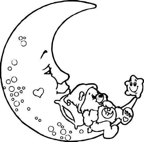 moon bear coloring pages care bears moon coloring page wecoloringpage