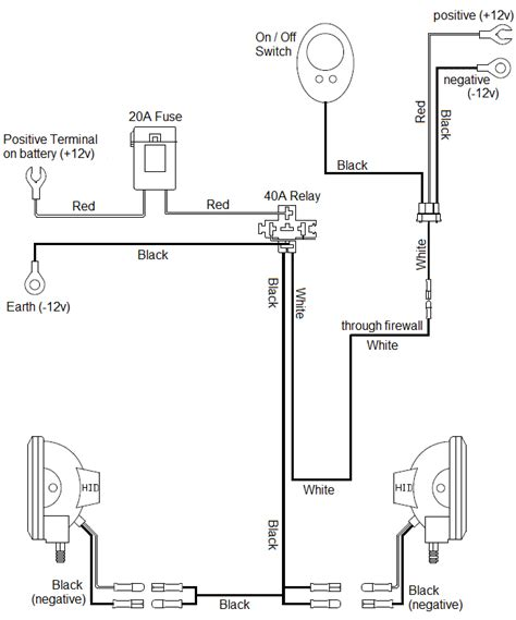 simple spotlight wiring diagram simple automotive wiring