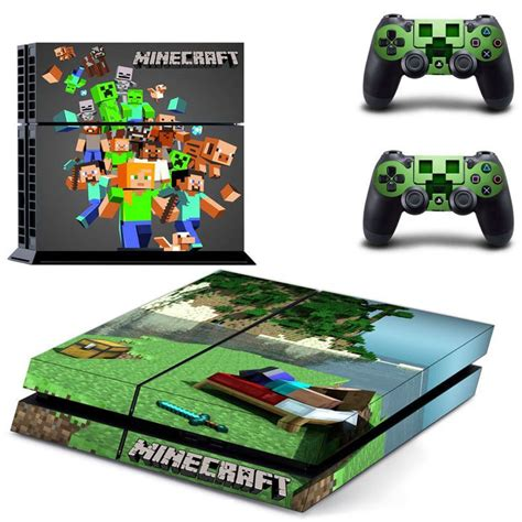game console mod minecraft 1 8 minecraft ps4 skin decal for console and 2 controllers