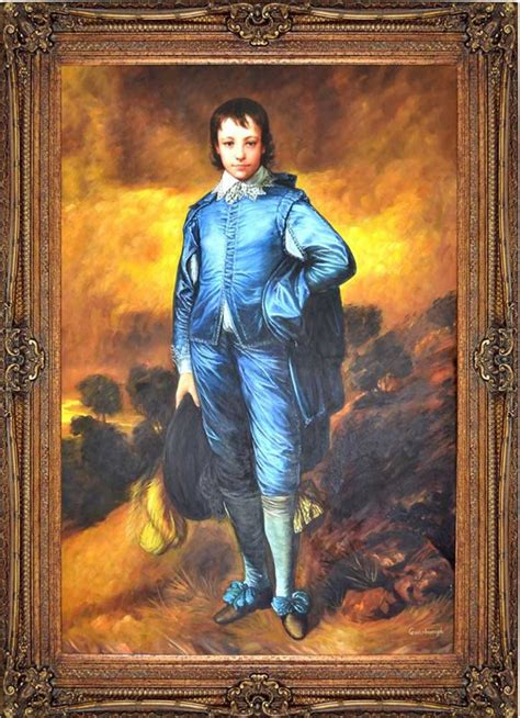 blue boy painting the blue boy by gainsborough