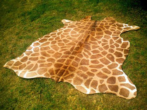 giraffe hide rug giraffe print printed cowhide skin rug cow hide giraffe dc4281 ebay