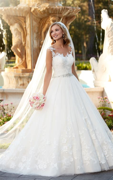 Wedding Gowns by Lace And Tulle Gown Wedding Dress Stella York